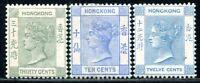 HONGKONG 1891 45b,58-59 * SELTENE WERTE 260€(A9528