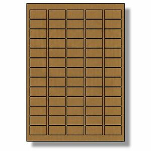 1625 Brown Kraft  Sticky Labels 21x38mm Stickers Tags Blank Self Adhesive