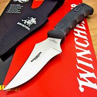 Winchester Outdoorsman Clip Point Hunter Skinner Fixed Blade Knife with Sheath