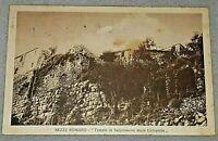 SEZZE ROMANO antica cartolina 1923  - tempio Saturno con mura ciclopiche