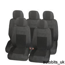 Premium in tessuto nero 5X Set Completo Coprisedili per 5 POSTI FORD C-MAX S-MAX