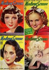 166 Old Issues Of Modern Screen-America Movies Magazine Vol.1 (1930-1945) On Dvd