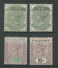 ZULULAND SG13(2) + SG20 & 24 MINT CAT £85