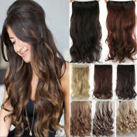 Fashion Ombre Clip in Remy Hair Extensions 3/4 Full Head Thick One Pcs As Human