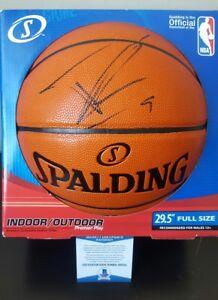 TONY PARKER signed SAN ANTONIO SPURS Replica Game basketball w BECKETT COA PROOF