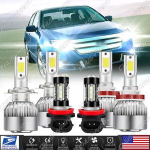 For Ford Fusion 2006-2016 6500K LED Headlights High Low Beam Fog Light Bulbs Kit