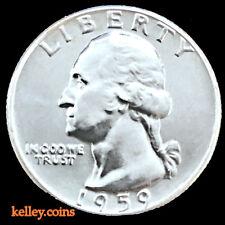 1959-D 25C Washington Silver Quarter BU