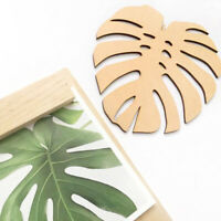 Nordic Wooden Monstera Leaf Wall Ornament Kids Room Bedroom Home Decor Eager