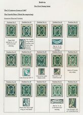BOLIVIA STAMPS 1867 5c CONDOR 4TH PLATE (3RD RE-ENGRAVING) PLATE POSITION STUDY