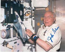 "Nasa Astronaut John Glenn hand signed 8""x10"" In Flight Photo"