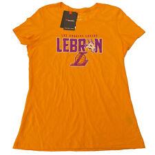 Fanatics T-Shirt Women's M L XL Yellow Lebron James Lakers Goat NBA Champs 2020