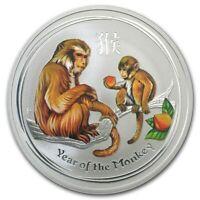 Perth Mint Australia Lunar Series II Coloured Monkey 2016 1 oz .999 Silver Coin