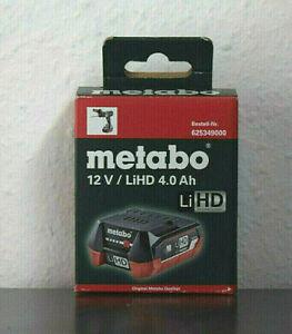 METABO Ersatzakku Akkupack Akku 12,0 Volt / 4,0 Ah LiHD 625349000 neu