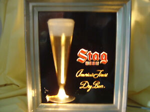 STAG VINTAGE RARE *** BEER BUBBLER *** LIGHTED MOTION SIGN WOW!!