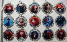 15 Brave Merida Silver Flat Bottle Cap Necklaces Set 1