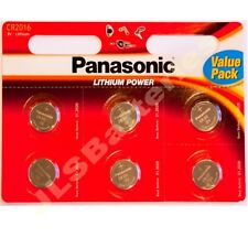 6 x  Panasonic  2016 Lithium 3v Batteries CR2016 DL2016