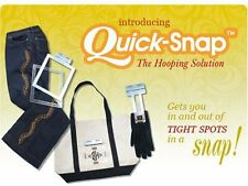 Quick Snap Hooping System for any embroidery machine