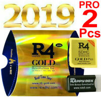 2Pcs R4 Gold Pro SDHC for DS/3DS/2DS/ Revolution Cartridge With USB Adapter 2019