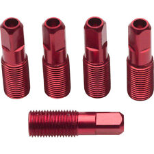 Easton 5-Pack of External Threadead 2.0 x 17mm Red Alloy Spoke Nipples