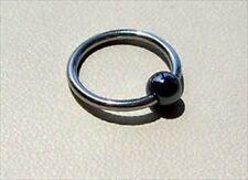 "16g 7/16"" Captive Bead Ring 16g 316L Hematite Organic Stone Ball"