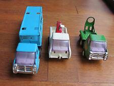 Lot of 3 Vintage  Buddy L Pressed Steel Trucks