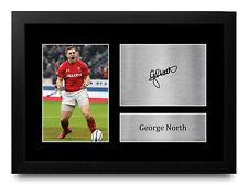 More details for george north british lions gifts signed autograph a4 photo print for rugby fans