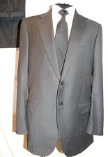 Belvest @ DAVIDE CENCI Smart Italian Tailored Grey Pinstripe Suit UK 42L W36 L32