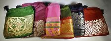 Lot of 6 2x2 Indian Saree Handmade Hand Sewn Gift Bags Sari Jewelry Ring Earring