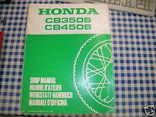 BB 66ML400 Manual De Taller HONDA CB 350 450 S G Ediz. 1986