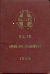 1959 ATSF Atchison Topeka & Santa Fe Railroad - Operating Department Rule Book