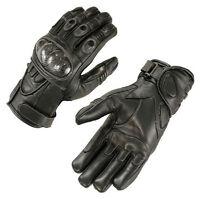 Motorradhandschuhe Leder Motorrad Handschuhe kurz schwarz  Gr. M L XL 2XL Neu