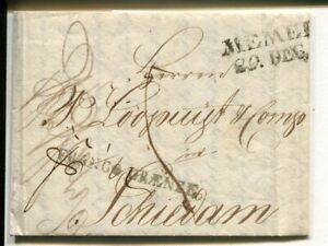Estonia letter from Pernau to Schiedam, Netherlands 1821