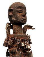 Arte Africano Arti Primo Primitivo Primo - Fetish Fon Su Base - 49,5 CMS