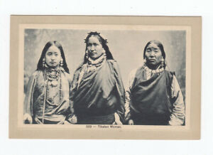 Vintage Asian Postcard: 523 - Tibetan Women (Nestor Gianaclis?)