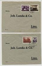 ÖSTERREICH 1938 2Stk. BRIEFE, GRAIN nach LINZ