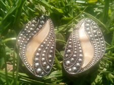 Lightweight Clup On Earrings. Set with Marcasite