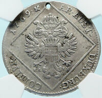 1769 AUSTRIA Queen Maria Theresa Old Antique 30 Kreuzer Austrian NGC Coin i83741