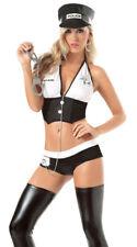 Women Lady Police Cop Sergeant Uniform Bikini Costume Halloween Outfit Dress Set