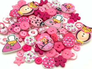 100 x Mixed Wooden Plastic Buttons Cardmaking Embellishments Craft Cards