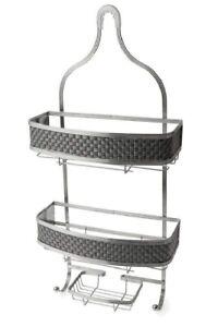 3 Tier Shower Caddy Bathroom/Kitchen Hanging Shower Rack Bath Storage Chrome