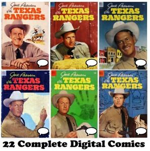 Jace Pearson's Tales of the Texas Rangers 22 issues FULL RUN comic books on DVD