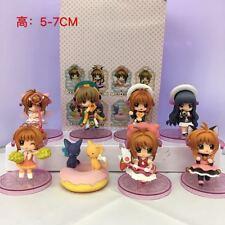 8x Anime Card Captor Sakura Kinomoto Sakura PVC Figure Toy Cosplay New NO Box