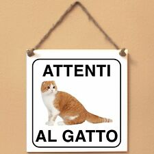 Scottish Fold 4 Attenti al gatto Targa gatto cartello ceramic tiles