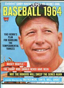 BASEBALL - 1964- #5 1964-MICKEY MANTLE-YOGI BERRA-GROAT-YAZ-