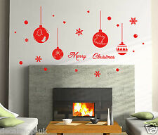 Xmas Special Balls and Snowflakes Vinyl Wall Sticker/ Transfer Decal- REMOVABLE