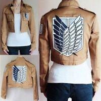 Attack On Titan Shingeki No Kyojin Khaki Jacket Scouting Costume Cosplay Legion*