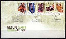 2010 Australia - Wildlife Caring - Rescue to Release self adhesive Fdi Fdc