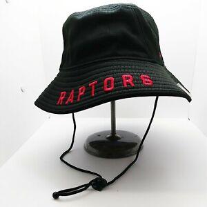New Era Men's 100% Authentic Bucket Hat one size Toronto Raptors black