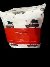Target Wondershop 4pc Full Sheet Set Soft Brushed Flannel Christmas Tree Cars