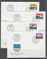 Switzerland Sc B439-B478 FDC. 1976-80 semi postals, 10 cplt sets on 40 FDCs